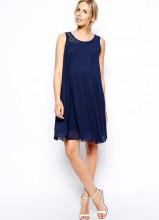Mamalicious Swing Dress With Studded Neckline