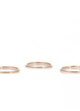 Set of Three Rose-Gold Plated Rings