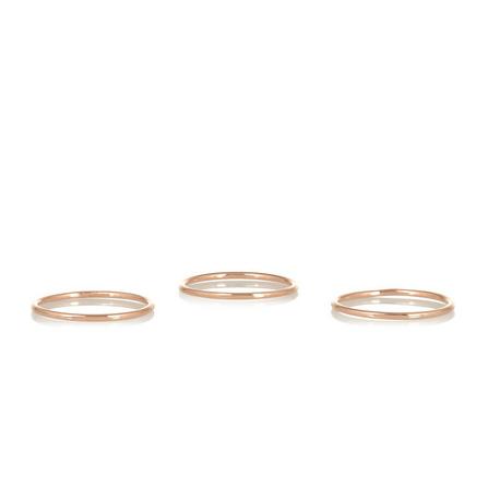 Maria Black Rose Gold Plated Midi Rings