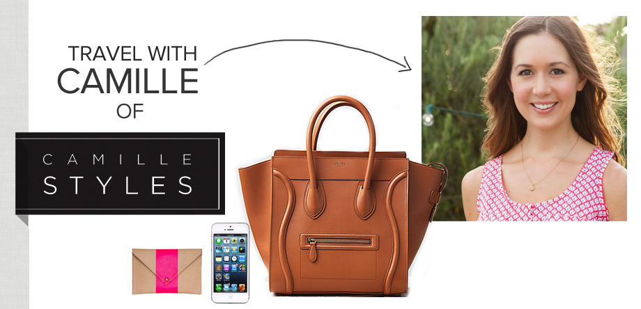 Inside Camille Styles' Travel Bag