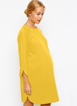 Maternity Shift Dress In Crepe With Cut Out