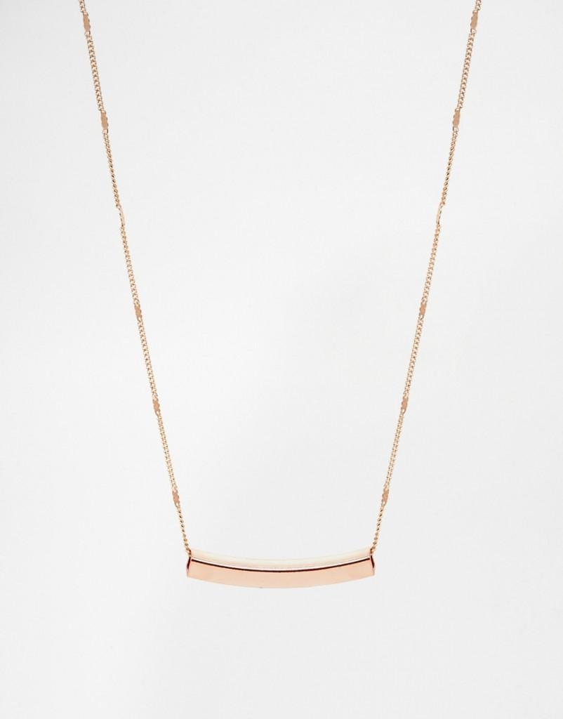 Warehouse Ditsy Bar Necklace