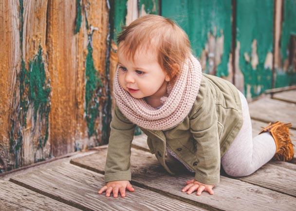 Wesleigh Gray in Baby Gap