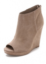 Demy Suede Wedge Booties