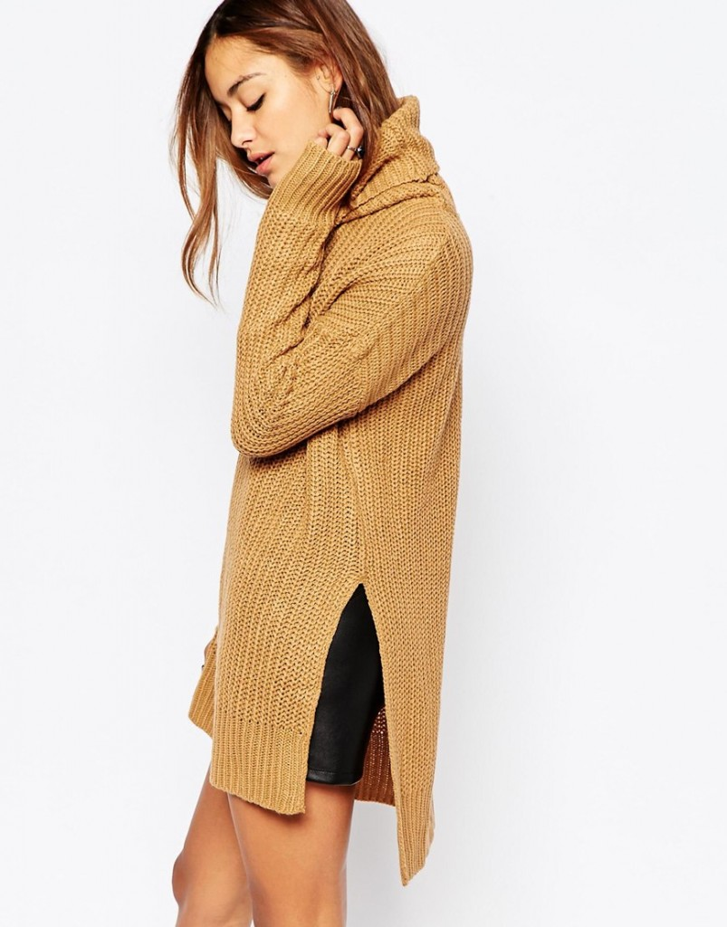 Noisy May Favour Long Roll Neck Knit
