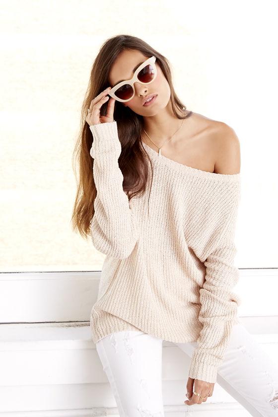 Snuggler's Cove Beige Sweater
