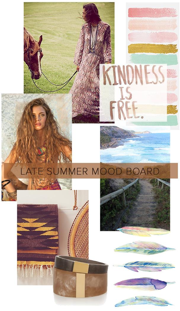 La Petite Peach_Late summer mood board 1